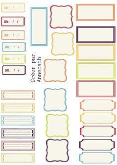 étiquettes à imprimer