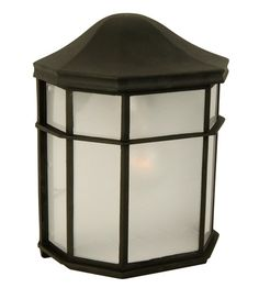 Exteriors by Craftmade Contractors 1 Light Outdoor Wall Mount in Matte Black Z103-05 #Craftmade