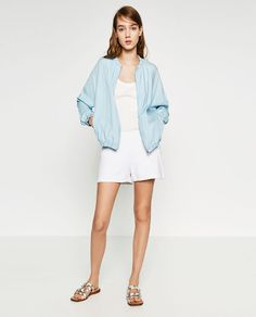 Image 4 of FLOWING BOMBER JACKET from Zara