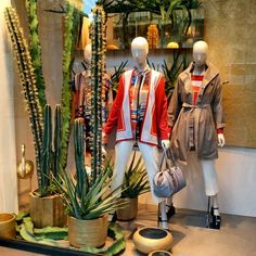 "MARINA RINALDI, Paseig De Gracia, Barcelona, Spain, ""Be a cactus in a delicate world of flowers"", photo by Interior Primera, pinned by Ton van der Veer"