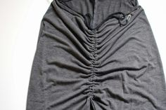 Trash To Couture: DIY Ruched Split Seam