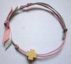 Baptism Favors, Baptism Ideas, Greek Girl, Girls Jewelry, Pink Grey, Christening, Bracelets, Handmade Items, Etsy