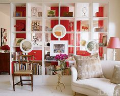 Good morning, I recently heard someone say that they don't like Ikea and wouldn't use it in their home. Now, understandably Ikea can lac. Expedit Hack, Ikea Expedit Bookcase, Ikea Shelves, Bookcase Wall, Bookshelves, Bookcase Plans, Ceiling Shelves, Bookshelf Design, Elle Decor