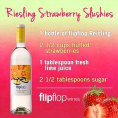 Riesling Strawberry Slushies Recipe   FlipFlop Wines© Recipe via ZipList