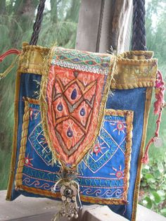 PEACOCK FLAP POUCH - for Cricket - boho, tribal, one of a kind - Custom Order Only. $155.00, via Etsy.
