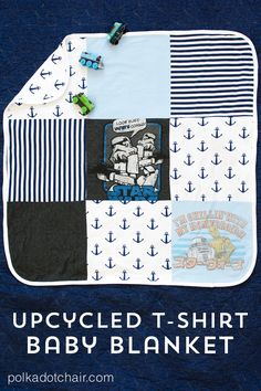 We've all heard of turning T-shirts into a quilt, but the result is a bit juvenile. Make one for your littlest family member, and drape your own bed in something more polished.