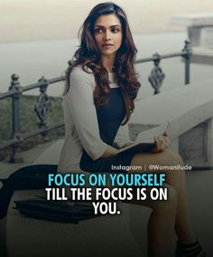 Focus on yourself till the focus is on you. Crazy Girl Quotes, Attitude Quotes For Girls, Girl Attitude, Self Love Quotes, Boss Quotes, True Quotes, Motivational Quotes, Positive Quotes, Qoutes