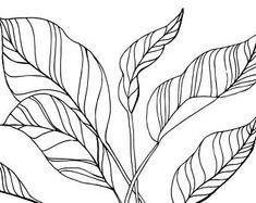 Leaves Digital Print, Watercolor, Printable Art, Digital Download
