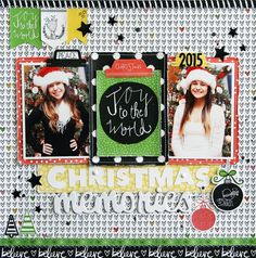 Bella Blvd IF CHRISTmas collection. Christmas Memories layout by creative team member Laura Vegas.
