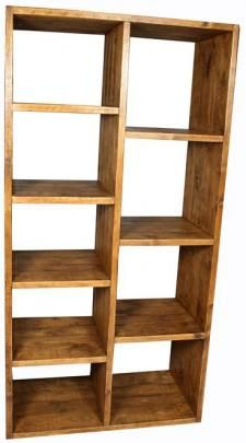 Shipwood Dark Bookcase. Solid Reclaimed Wooden Furniture   View Reclaimed  Wood Bookcase Large: £650 Amazing Design