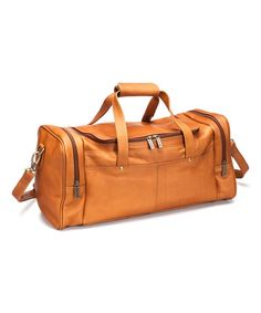 Love this Tan Hayden Leather Duffel Bag by Le Donne on #zulily! #zulilyfinds