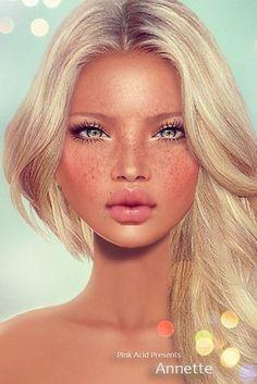 Choosing The Right Mascara For You Digital Art Girl, Digital Portrait, Portrait Art, Chica Fantasy, Fantasy Art, Second Life Avatar, Portraits, Doll Face, Face Art