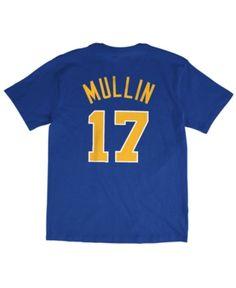 c6b87afdd8a7 Mitchell   Ness Men s Chris Mullin Golden State Warriors Hardwood Classic  Player T-Shirt - Blue S