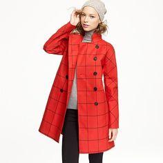 Mackintosh® Rousay tattersall coat in wool  $1,200.00 #JCrew