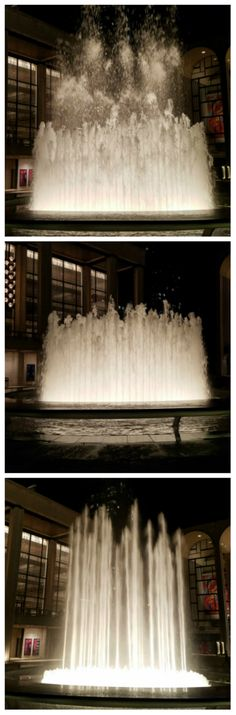 """Photo Challenge: Not Pedestrian - WATER FOUNTAIN AT LINCOLN CENTER  - """"Design, refine and repeat, and keep learning all the way along. It sounds bland and pedestrian, but in fact, it's the reverse."""" Anouska Hempel #lincolncenter #photography"""