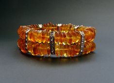 Baltic Amber Beautiful Bracelet Original Design~ 18 g 天然琥珀