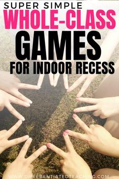 If you're looking for some fun ideas engage your class during indoor recess, look no further. These are my favorite indoor recess games & they're perfect for a rainy day or cold weather fun. Rainy Day Games, Rainy Day Activities For Kids, Pe Activities, Activity Games, Class Games, School Games, Fun Classroom Games, Classroom Resources, Classroom Ideas