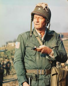 John Wayne starred in 1962's 'The Longest Day', the epic retelling of the invasion of Normandy in World War II. (© CinemaPhoto/CORBIS)