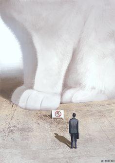 Giant Animals, Big Animals, Anime Animals, Giant Cat, Dragon City, Neko Cat, Cute Animal Drawings, Illustrations, Japanese Artists