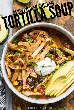This Slow Cooker Chicken Tortilla Soup offers a deep, comforting, smoky flavor with simple ingredients and minimal effort. This Slow Cooker Chicken Tortilla Soup offers a deep, comforting, smoky flavor with simple ingredients and minimal effort. Slow Cooker Chicken Tortilla Soup Recipe, Slow Cooker Recipes, Crockpot Recipes, Chicken Recipes, Cooking Recipes, Tortilla Soup Recipes, Slow Cooker Chicken Broth, Chicken Soups, Tortilla Chips