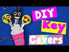 How To Decorate Keys With Polymer Clay (DIY Starbucks & Emoji Key Cap Cover Tutorial) - YouTube