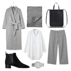 """""""Grey tones."""" by basic-appeal ❤ liked on Polyvore featuring Boutique, Acne Studios and Larsson & Jennings"""