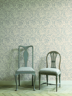 Wallpaper is 'Kamala' from the Echo Indienne Collection by Baker Lifestyle at GP & J Baker.