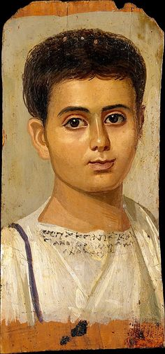 Portrait of the Boy Eutyches Period: Roman Period Date: A.D. 100–150 Geography: Egypt
