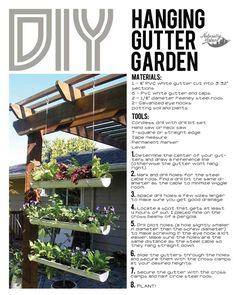 DIY Hanging Gutter Garden - Naturally Urban