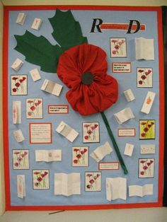 CLASSROOM: Primary Displays - Photographs and Examples of Primary Teaching Displays Teaching Displays, Class Displays, School Displays, Classroom Displays, Library Displays, Remembrance Day Activities, Remembrance Day Art, Display Boards For School, Ww1 Art