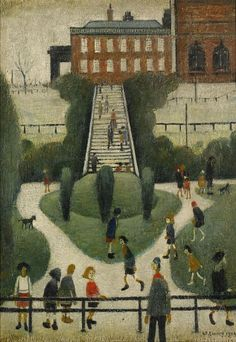 lowry, laurence stephen, r. Modern Art, Contemporary Art, English Artists, Famous Artists, British Artists, Naive Art, Urban Landscape, Art Fair, Illustration Art