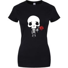 Women's Skeleton Love T-shirt Black ($20) ❤ liked on Polyvore featuring tops, t-shirts, skeleton top, skeleton tee, x ray t shirts and skeleton t shirt