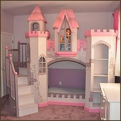 Too much pink & purple, but awesome castle! The room may end up looking like this one day... Enchanted nursery
