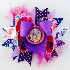 Disney My Little Pony Boutique Stacked Bow on Etsy, $8.00