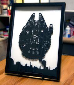 Millennium Falcon Mos Eisley Star Wars silhouette by willpigg