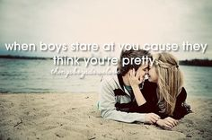 When boys stare at you because they think you're pretty things boys do we love | Tumblr