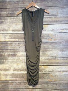 """Side Synched Dress"" #farmerjohns #farmerjohnsboutique #theboutiqueatfarmerjohns #fashion"