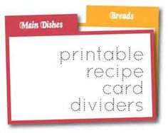 Recipe Card Generator  Recipe Cards Free Printable Cards And Texts
