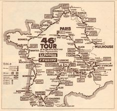 ......Route map, TdF, 1954