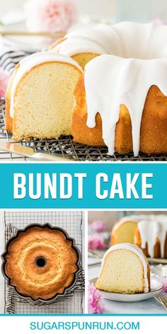 An easy classic bundt cake recipe made from scratch! This simple dessert recipe Includes a how-to video. Vanilla Bundt Cake Recipes, Pound Cake Recipes, Easy Cake Recipes, Sweet Recipes, Baking Recipes, Dessert Recipes, Bundt Cake Glaze, Glaze For Cake, Dessert From Scratch