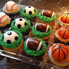 All-Star baby shower cake #babydj #babyshower #itsaboy #blue #basketball #football #soccer #baseball #gimmecake #customcakes #customcupcakes #cake #cakeart #allstar #chocolate #vanilla #atl #atlantaba - gimmecakebakery via Instagram