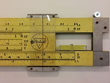 The slide rule was invented around 1620–1630, shortly after John Napier's publication of the concept of the logarithm. Edmund Gunter of Oxford developed a calculating device with a single logarithmic scale, which, with additional measuring tools, could be used to multiply and divide. The first description of this scale was published in Paris in 1624 by Edmund Wingate (c.1593–1656), an English mathematician, in a book entitled L'usage de la reigle de proportion en l'arithmetique & geometrie.