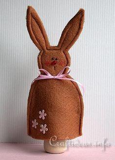 Felt Craft for Easter - Felt Bunny Egg Warmer 1