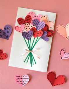 Crafts diy mother's day crafts, diy crafts for kids, crafts for Mothers Day Crafts For Kids, Valentine Day Crafts, Valentine Decorations, Homemade Valentines, Kids Valentines, Valentines Day Greetings, Preschool Crafts, Kids Crafts, Wood Crafts