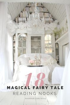 Check out these photos of magical fairy tale reading nooks for interior design inspiration.  #books #readingnook #nook