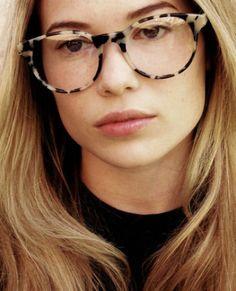 "Prism ""Paris"" cream tortoise shell optical glasses $330.00 #glasses...huge, but I kinda like them."