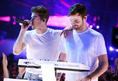 Alex Pall Photos Photos - Musicians Drew Taggart (L) and Alex Pall of The Chainsmokers perform onstage at the 2017 iHeartRadio Music Awards which broadcast live on Turner's TBS, TNT, and truTV at The Forum on March 5, 2017 in Inglewood, California. - iHeartRadio Music Awards - Show