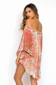 83ac5a4517a Jen's Pirate Booty Wild flower tunic in Monet tie dye Babydoll Dress,  Fashion Stylist,
