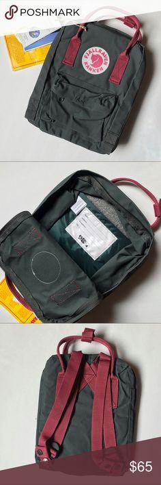 Fjallraven Kaken Minin Backpack New with tags FJALLRAVEN KAKEN Mini Backpack. Color: Forest green / Ox Red. Unisex backpack Fjallraven Bags Backpacks