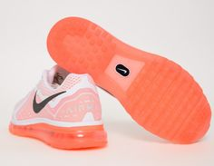 #Nike Air Max 2014 - White/Orange #sneakers